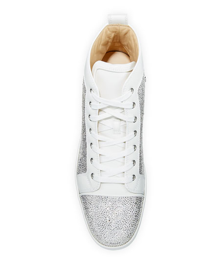 Louis Crystal Red Sole Sneakers