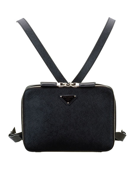 Prada Men's Small Square Saffiano Leather Backpack