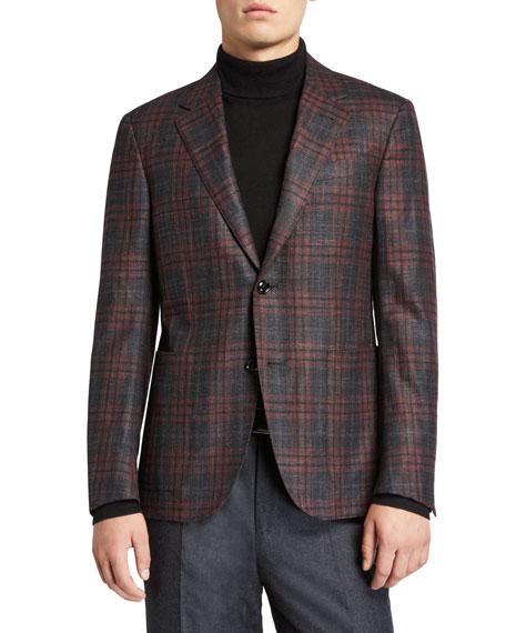 Ermenegildo Zegna Men's Plaid Wool-Blend Sport Jacket