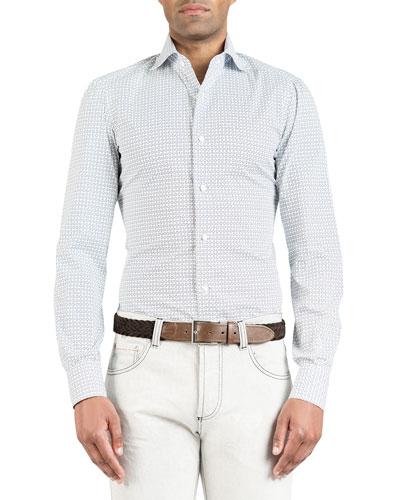 Men's Oval-Pattern Dress Shirt