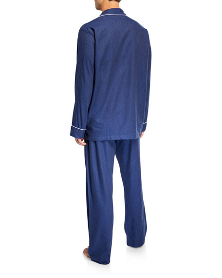 Derek Rose Men's Balmoral 3 Cotton Pajamas w/ Piping