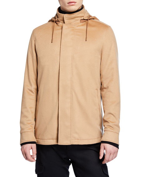 Ermenegildo Zegna Men's Cashmere Hooded Coat