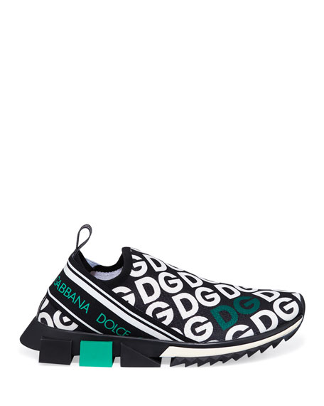 Dolce & Gabbana Men's Sorrento Logo-Mania Sneakers