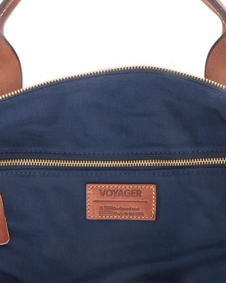 Boarding Pass NYC Men's Voyager Waxed Weekender Bag