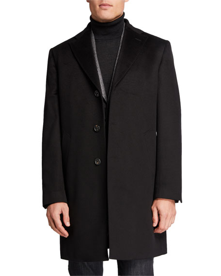 Image 2 of 4: Neiman Marcus Men's Cashmere Topcoat