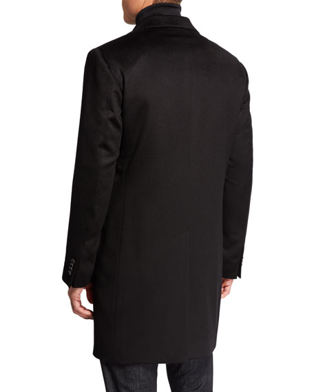 Image 3 of 4: Neiman Marcus Men's Cashmere Topcoat