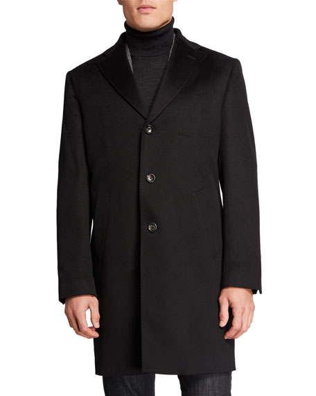Image 1 of 4: Neiman Marcus Men's Cashmere Topcoat