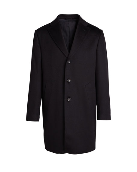 Image 4 of 4: Neiman Marcus Men's Cashmere Topcoat