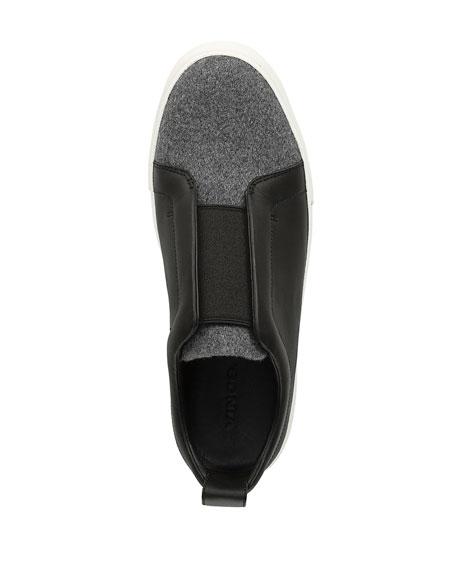Vince Men's Ranger Leather & Felt Laceless Low-Top Sneakers