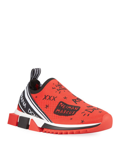 Men's Sorrento Graffiti Knit Trainer Sneakers