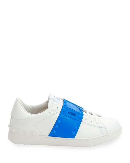 Valentino Men's Rockstud Untitled Leather Sneakers