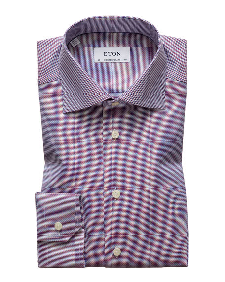 Image 1 of 3: Eton Men's Contemporary Textured Solid Dress Shirt