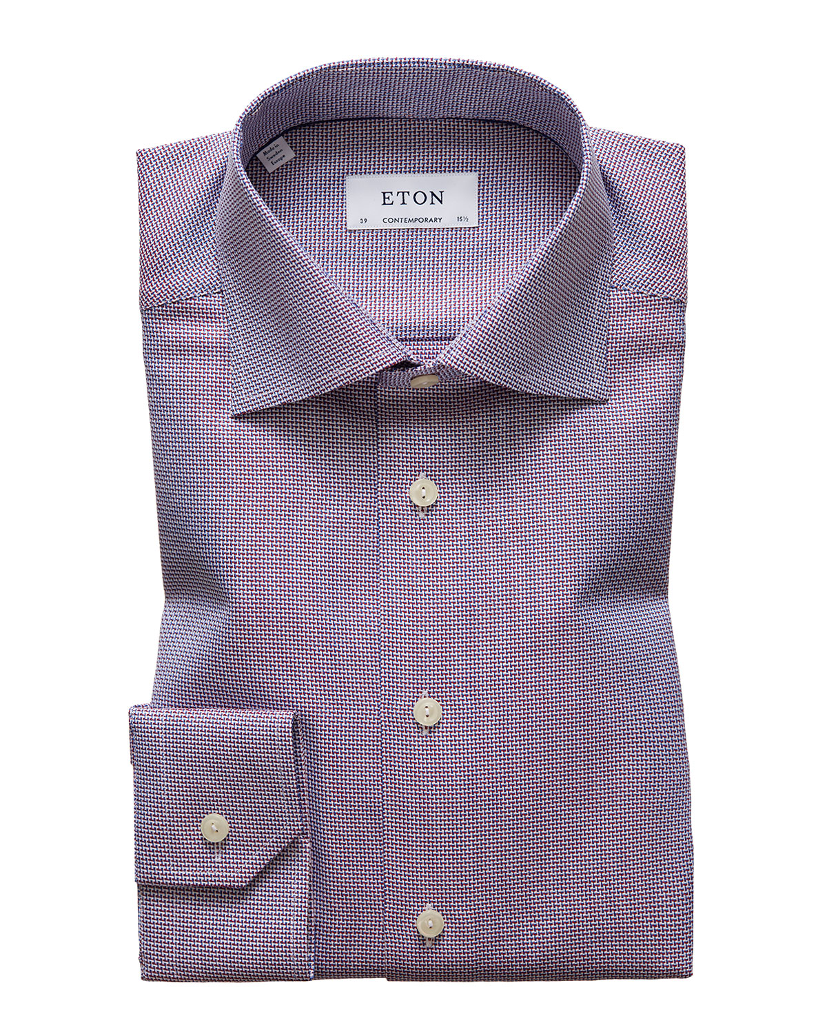 Eton Men's Contemporary Textured Solid Dress Shirt