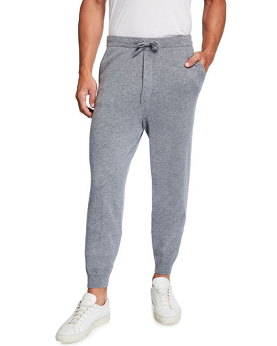 TSE for Neiman Marcus Men's Recycled Cashmere Banded Drawstring Jogger Pants