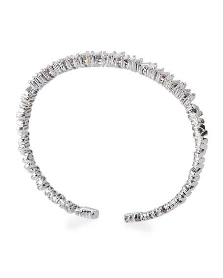Baguette Diamond Bangle in 18K White Gold
