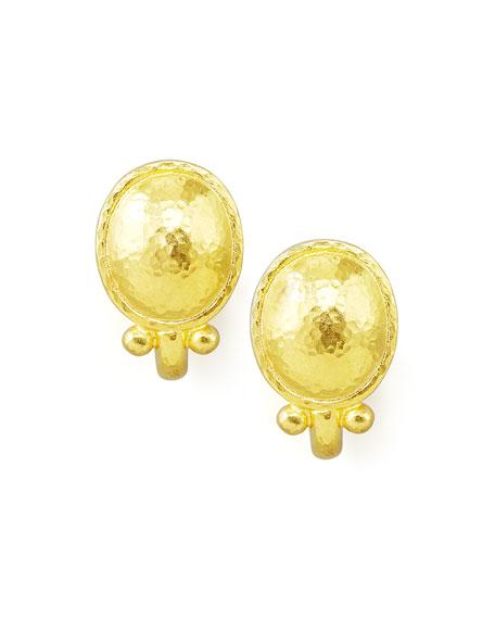 Elizabeth Locke 19K Beaded Dome Stud Earrings 9g1Jqi5