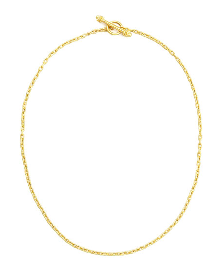 "19k Fine Gold Link Necklace, 17""L"