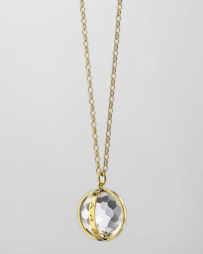 Extra Large 18k Gold Carpe Diem Pendant Necklace, 30