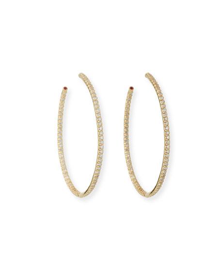 Roberto Coin 45mm Yellow Gold Diamond Hoop Earrings, 1.4ct