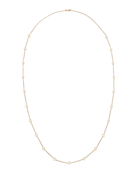 """Roberto Coin 36"""" Rose Gold Diamond Station Necklace, 4.18ct"""