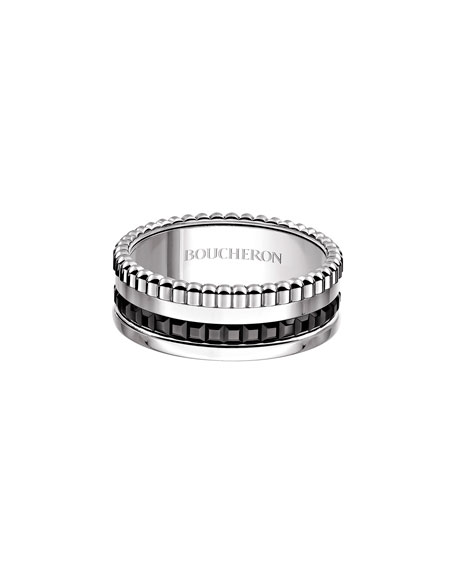 Boucheron Small Quatre Black Edition Band, Size 53