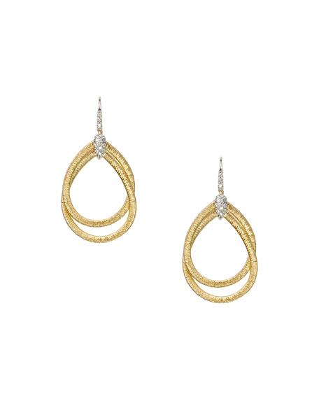 Diamond Cairo 18k Serpentine-Drop Earrings