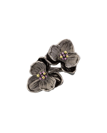 Image 1 of 2: Michael Aram Pink Sapphire Double Orchid Ring, Size 7