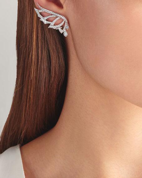 Stephen Webster Magnipheasant Pave Diamond Wing Stud Earrings