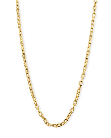 """19k Gold Link Necklace, 35""""L"""