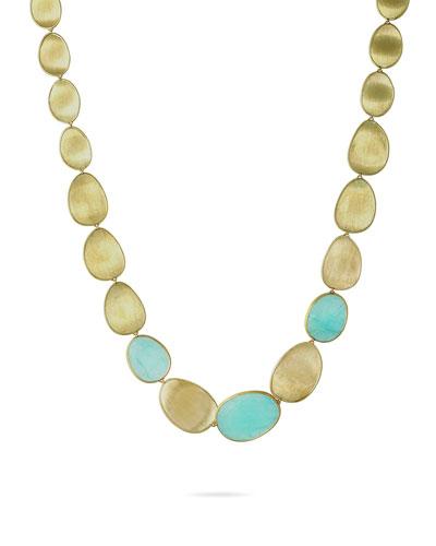 Lunaria 18k Gold Aquamarine Large Collar Necklace