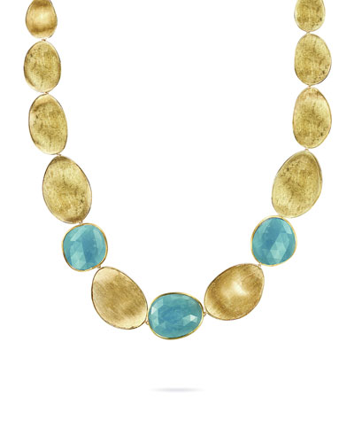 Lunaria 18k Aquamarine Small Collar Necklace