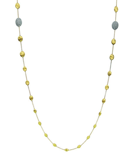 "Siviglia Diamond Station Necklace, 36""L"