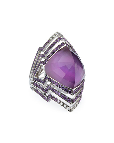 Lady Stardust Amethyst & Diamond Ring