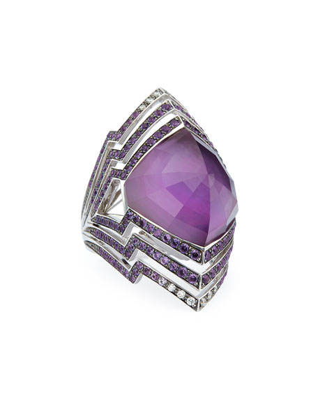 Stephen Webster Lady Stardust Amethyst & Diamond Ring