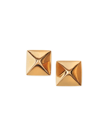 pyramid studs earrings ko 18k gold pyramid stud earrings neiman 2711