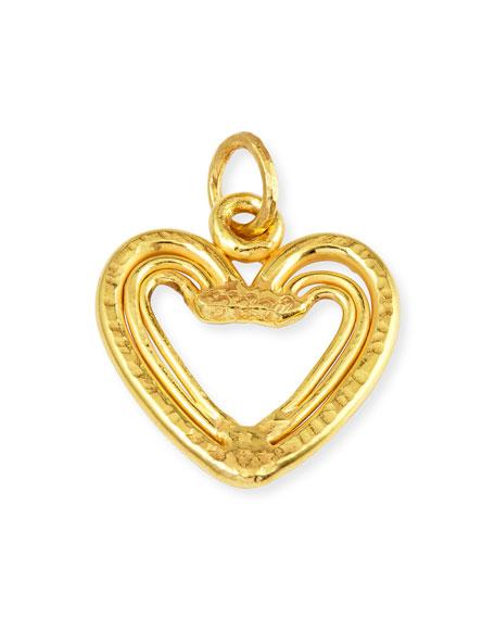 Jean Mahie 22K Yellow Gold Heart Trio Pendant