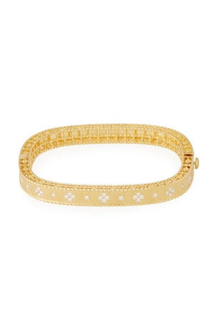 Roberto Coin Princess 18K Yellow Gold Narrow Diamond Bangle