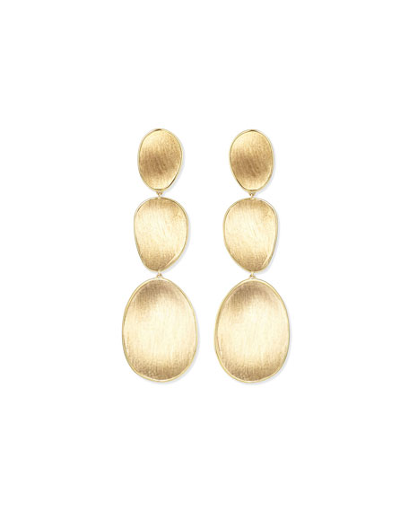 Marco Bicego 18K Lunaria Triple-Drop Earrings