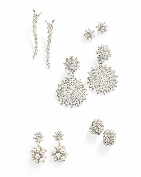 Lagrange 18K Pearl & Diamond Huggie Earrings