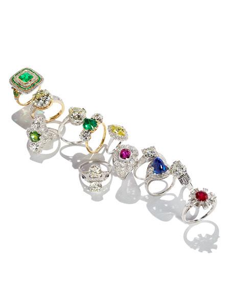 Estate Edwardian Demantoid Garnet Dinner Ring, Size 5.25