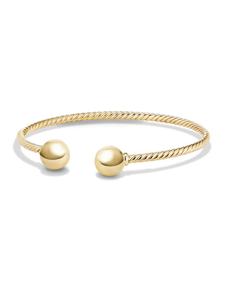 Quick Look David Yurman Solari 18k Gold Bead Cuff Bracelet