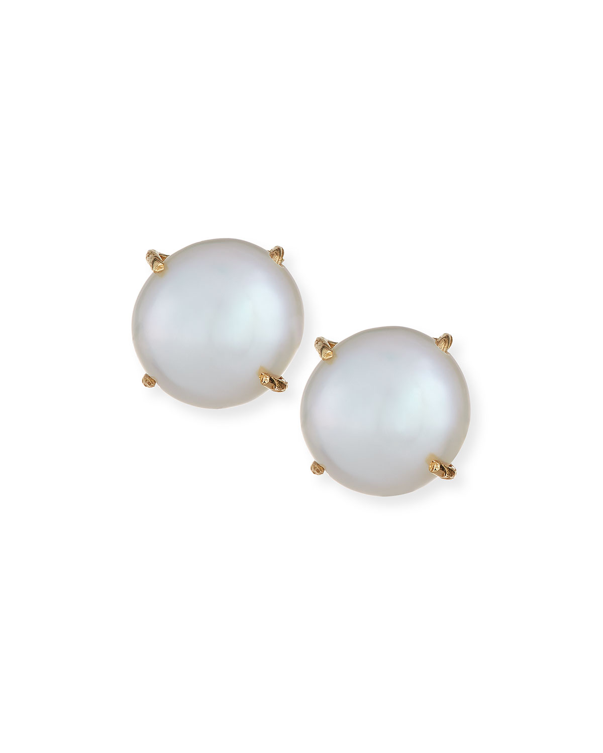 a5f11fa1e Margo Morrison Prong-Set Pearl Stud Earrings | Neiman Marcus