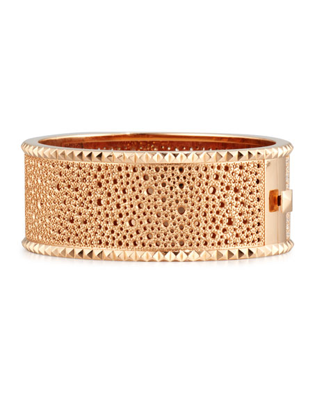 ROBERTO COIN ROCK & DIAMONDS 18K Rose Gold Bangle Bracelet