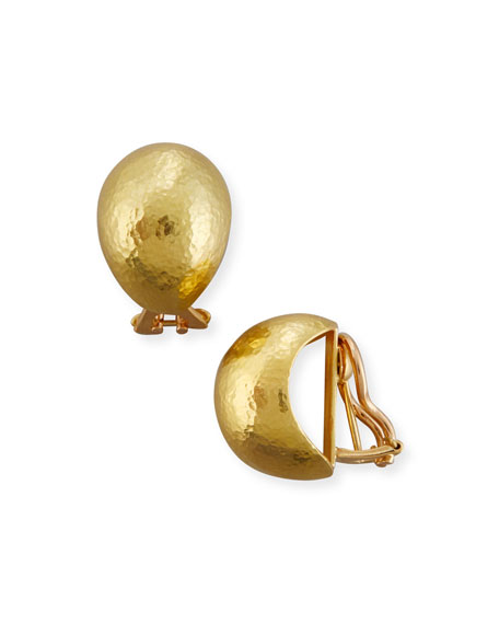 Elizabeth Locke Hammered 19K Gold Shrimp Earrings TAhQQaEmr