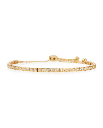 18K Yellow Gold Square Diamond Bracelet