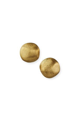 Marco Bicego Africa Textured Gold Stud Earrings, Small