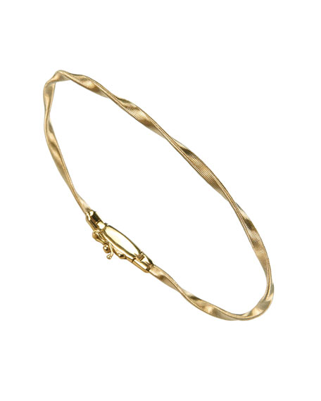 Image 1 of 3: Marco Bicego Marrakech 18k Gold Twisted Bangle Bracelet