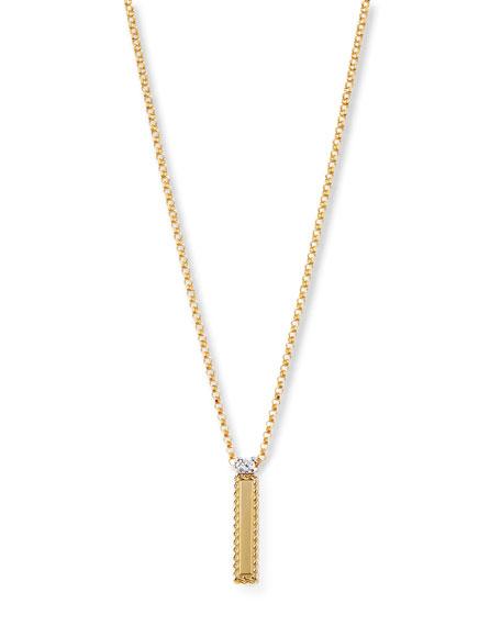 Roberto Coin Princess 18K Yellow Gold Diamond Initial Necklace, I
