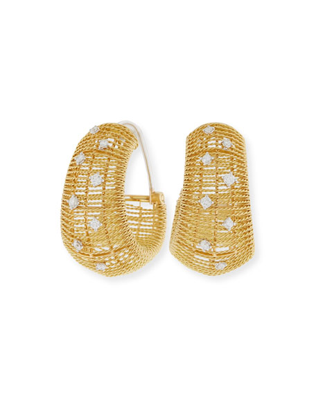 Renaissance Corset Earrings with Diamonds