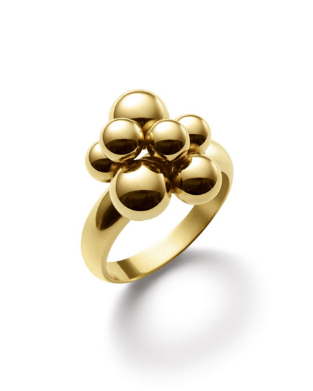 Mini Atomo 18k Gold Ring, Size 6.5